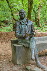 Statue to Burns at the Birks O Aberfeldy
