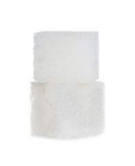 Cubes of sugar isolated on white background