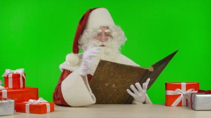 Santa Claus Reading the Christmas Story
