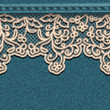 Denim background with lace.