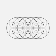 Geometric element, circles, line design