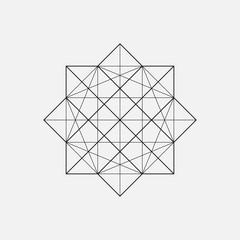 Geometric element, star shape, vector