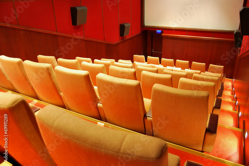 Wall mural movie theater seats photo wallpaper for Audience wall mural