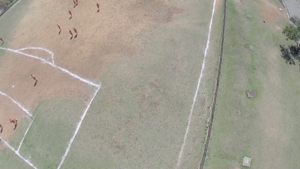 Aerial view from a Soccer Field in Sao Paulo, Brazil