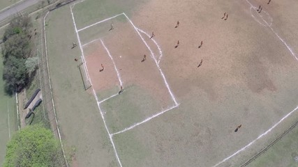 Aerial view from a Soccer Field in Brazil