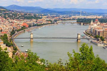 Budapest and Danube river panoramic view, Hungary, Europe