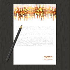 Vector corporate identity template with circle mosaic elements