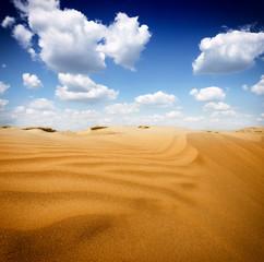 Sand dunest in the Sahara Desert