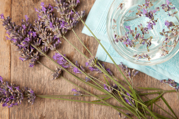 lavenders in the water for spa