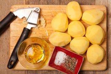 peeled patatoes