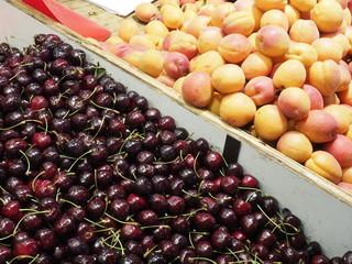 Fruta en mercado de París