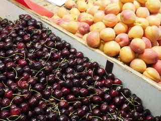 Fruta en un mercado de París