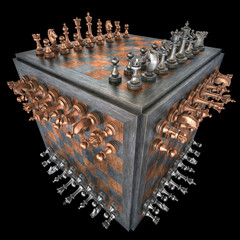 Chess Cube. Clipping path included.