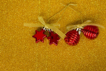 Ornaments on gold blackground