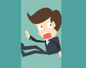 Concept businessman under pressure