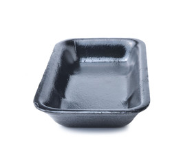 Empty foam food container