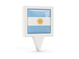 Square flag icon of argentina