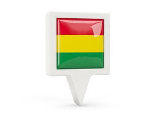 Square flag icon of bolivia