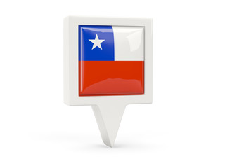 Square flag icon of chile