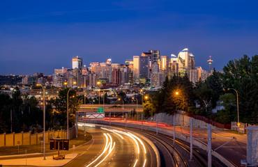Calgary skyline at night