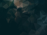 Dark abstract background polygon poster