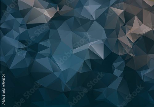 Dark abstract background polygon - 69916504