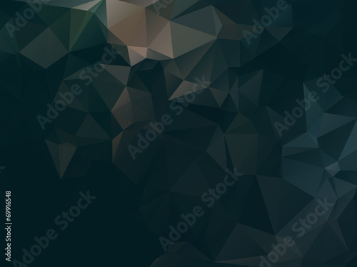 Dark abstract background polygon - 69916548