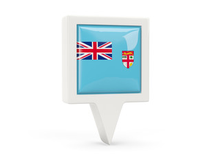 Square flag icon of fiji