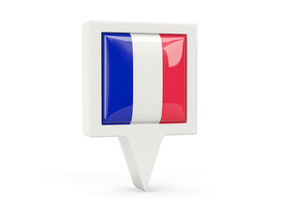 Square flag icon of france