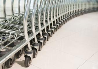 row of shopping cart