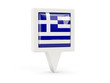 Obrazy na płótnie, fototapety, zdjęcia, fotoobrazy drukowane : Square flag icon of greece