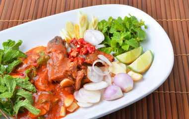 canned fish mix, Yum thai food style
