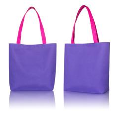 blue shopping fabric bag on white background