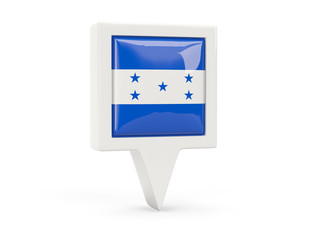 Square flag icon of honduras