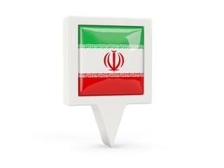 Square flag icon of iran