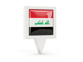 Square flag icon of iraq