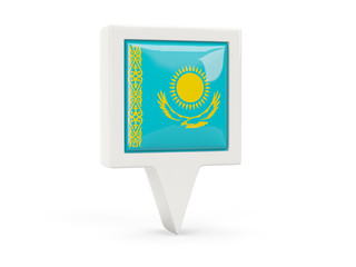 Square flag icon of kazakhstan