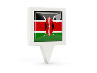 Square flag icon of kenya