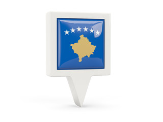 Square flag icon of kosovo