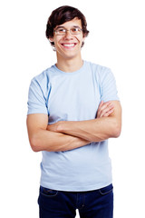 Guy in glasses with crossed arms