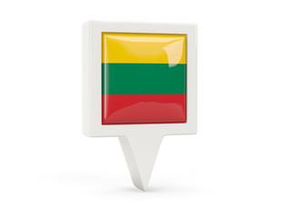 Square flag icon of lithuania