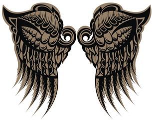 Winged tattoo