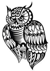 Owl. Tattoo design