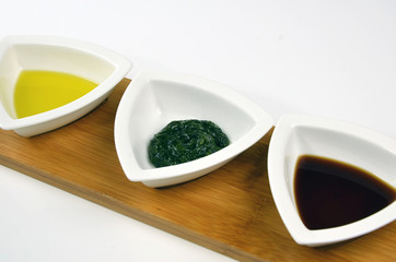 Olive Oil, Dill And Malt For Dipping Or Basting