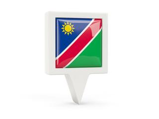 Square flag icon of namibia