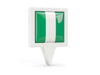 Square flag icon of nigeria
