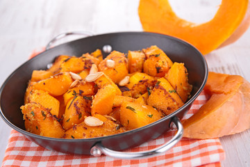 fried pumpkin cubes