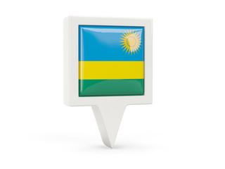 Square flag icon of rwanda