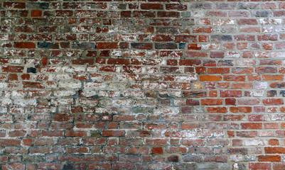Hintergrund Textur, alte Mauer aus Backstein oder Ziegel