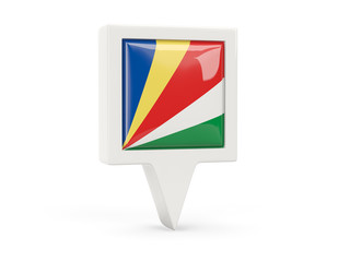Square flag icon of seychelles